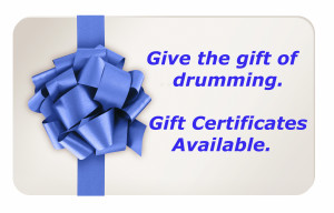 drum lessons los angeles gift card